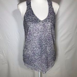 🍍Anthropologie purple cheetah shimmery tank top